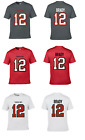 TOM BRADY #12 TAMPA BAY BUCCANEERS TEAM CUSTOM PLAYER NAME NUMBER JERSEY T-SHIRT $19.99 USD on eBay
