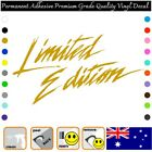 Limited Edition Text 100mm Premium Adhesive Vinyl Decal Car/wall/laptop