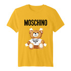 T-Shirt 2020 Moschino Milano Bear T-Shirt for Men and Women, 100% Cotton, S-5XL