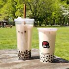 Reusable Eco-Friendly Bubble Tea Boba Cup with Stainless Steel Straw Tumbler