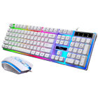 Gaming Keyboard Mouse Set Rainbow LED USB Multi-Color Changing Backlight Mouse