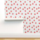 Wallpaper Roll Red Apples Fall Autumn Fruit Country Winter Baby 24in x 27ft