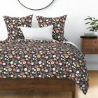 Floral Garden Flower Sateen Duvet Cover by Roostery image