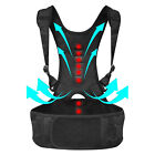 Adjustable Back Posture Shoulder Corrector Support Brace Belt Therapy Women Men
