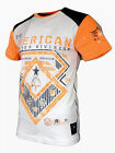 AMERICAN FIGHTER Mens T-Shirt CONCORD FB Athletic Biker Gym Blue S-3XL 33A $40 image