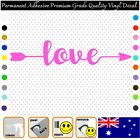 Love With Arrow - Permanent Adhesive Vinyl Decal Sticker Car/wall/laptop
