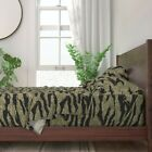 Camo Tiger Camouflage Animal Boy 100% Cotton Sateen Sheet Set by Roostery