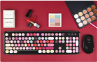 Lipstick color make-up Black/White 2.4GHz Wireless Keyboard & Mouse Set For PC.
