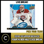 2019-20 UPPER DECK ICE HOCKEY 4 BOX (HALF CASE) BREAK #H798 - PICK YOUR TEAM $67.0 CAD on eBay