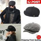 8 Panels Newsboy Flat Cap Peaky Blinders Baker Golf Driving Boy Mens Beret Hat