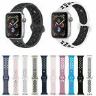 For Apple iWatch Nike+ Silicone Sport Band 44mm 42mm 40mm 38mm Series 5 4 3 2 1 image