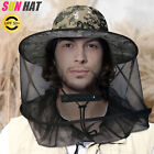 Fishing Mosquito Head Net Hat Sun Hat With Hidden Mesh Protection For Bugs Bees