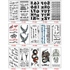 Classic Black Letter Fake Tattoo Hand Body Waterproof Temporary Tattoo Stickers $3.76 USD on eBay