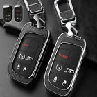 Metal+Leather Car Key Fob Case Cover Holder For Jeep Dodge Chrysler Accessories $34.8 USD on eBay