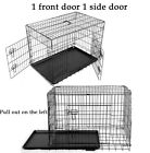 METAL PET CAGE CARRIER DOG PUPPY FOLDING TRAINING CRATE TRAVEL KEENY CAGE CRATE