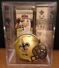 NEW ORLEANS SAINTS NFL Players Mini Helmet Shadowbox w/ card $9.9 USD on eBay