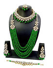 Bollywood style Trendy Gold Plated Haram Necklace jewelry  Set for Women