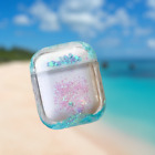 For AirPods 1/2 ,Cute Liquid Glitter Sparkle, Hard Clear Protective Cover