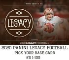 2020 Panini Legacy - Base Card (#'s 1-100) - Pick Your Card - Free Ship $1.39 USD on eBay