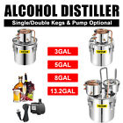 Moonshine Still 3/5/8Gal Water Wine Alcohol Distiller Boiler Kit Home DIY