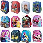 Boys Girls Kids Backpack Junior Toddlers Character Rucksack School Lunch Bag