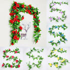 Artificial Rose Flower Vine With Leaves Wedding Flower Garland Home Decoration