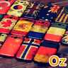 Stone-washed National Flag Case for Oukitel C17 Pro, Painted Cover Retro