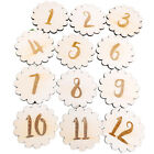 Monthly Milestone Wooden Disc Card Baby Photography Memorial Number Props 10cm