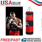 Boxing Training Empty Sandbag Hollow Set w/ Chain Hook Carabiner Punching Bag US