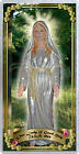 Our Lady of Good Help Wisconsin USA laminated Holy Card. Statue of Mary.