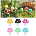 1/10 Pcs  Mini Mushroom Miniatures Set Fairy Garden Decor Ornament Best