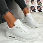 WOMENS LADIES RUNNING TRAINERS PARTY LACE UP SNEAKERS MESH WOMEN SHOES SIZE