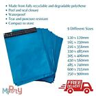 Poly Mailer Bags Strong Metallic Blue Plastic self seal - many sizes x10 bags