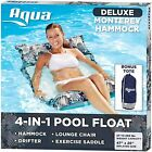 AQUA 4-in-1 Monterey Hammock Inflatable Pool Float, Multi-Purpose Pool Hammock