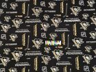 NHL PITTSBURGH PENGUINS Cotton Fabric - 1/4 to 1/2 YARD $24.75 USD on eBay