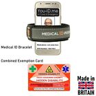 Hidden Disability Aware Card Face Mask Covering Exempt Medic ID Exemption Set