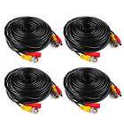 25/50/60/100/150ft Extension Video DC BNC Power Cable for Security Camera System