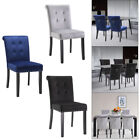 2/4/6 Set Velvet Dining Chair Accent Upholstered Wood Leg Chair Kitchen Formal