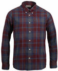NEW BARBOUR MERLOT RED BLUE PLAID HIGHLAND CHECK BUTTON DOWN SHIRT