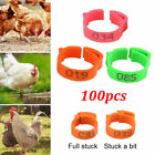 100X Chicken Hen Pigeon Leg Poultry Birds Dove Chicks Duck Parrot Clip Rings Set