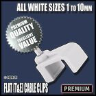 White Flat T&E Cable Clips Nail Tacks Fixing Holders Electrical Wires Lead...
