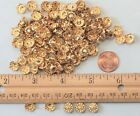 New round crown style nail head(#N3) stud gold color 9 mm 5 prongs U.S. stock.