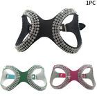 Artificial Leather Rhinestone Protect Adjustable Walking Outdoor Dog Harness Pet