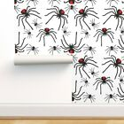 Removable Water-Activated Wallpaper Creepy Spider Halloween Poison Insect Scary