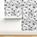 Removable Water-Activated Wallpaper Creepy Crawly Spiders Arachnids Webs