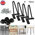 4x Hairpin Table Legs 2/3 Prong 10mm Iron 8 14 16 28 Coffer Table Desk Bench