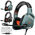 Gaming Headset Mic Surround Sound 3.5mm Wired 50mm Drivers For PS4 Xbox One PC