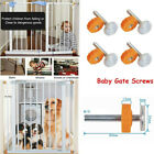 1PC Baby Pet Safety Stairs Gate Screws/Bolts with Locking Nut Spare Part kit