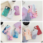 watercolor marble soft rubber case cover for iphone 11 pro max xr xs max 7 8 se2