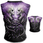 SPIRAL DIRECT FLAMING SPINE CAP SLEEVE TOP ALTERNATIVE GOTHIC